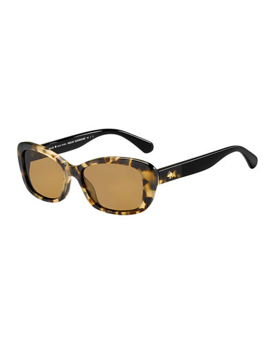 claretta two-tone oval sunglasses
