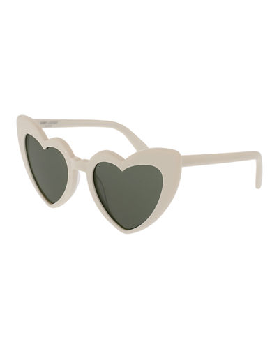 e346ca47c3 Saint Laurent Lou Lou Oversized Heart Sunglasses