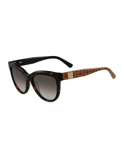 Cat-Eye Two-Tone Visetos Sunglasses