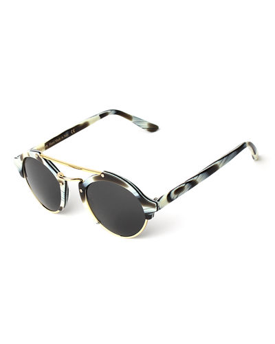 Milan II Semi-Rimless Round Polarized Sunglasses