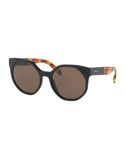 Geometric Two-Tone Acetate Sunglasses