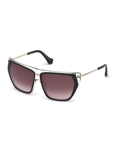 Balenciaga Transparent Wrap Sunglasses