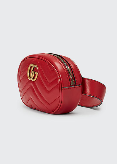 e5b11111b999 Gucci GG Marmont Small Quilted Leather Belt Bag