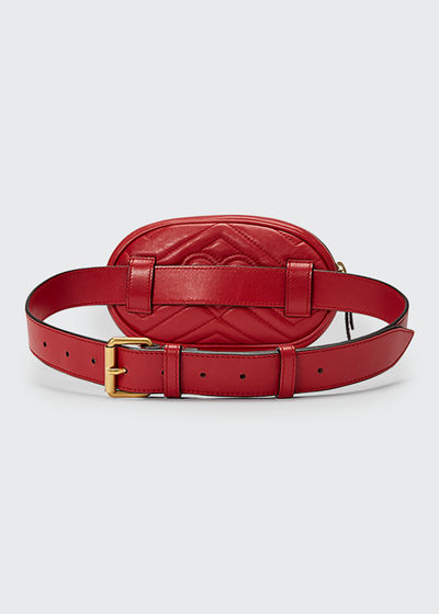 cfdd747d168 Gucci GG Marmont Small Quilted Leather Belt Bag