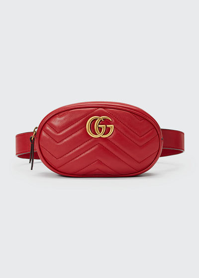 a9e88e537607a5 Gucci GG Marmont Small Quilted Leather Belt Bag