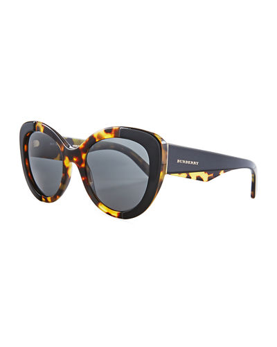 Two-Tone Butterfly Acetate Sunglasses