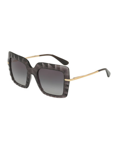 Square Faceted Sunglasses