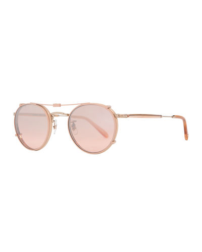 Wilson Round Optical Frames w/ Sunglasses Clip