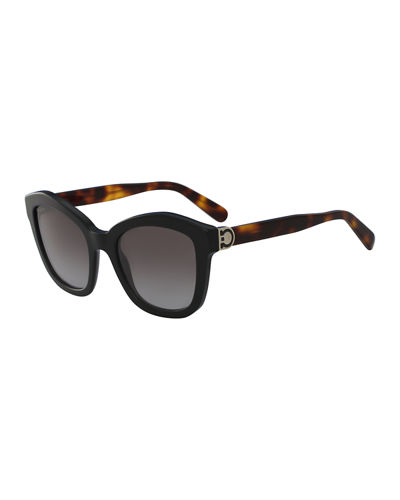 Salvatore Ferragamo Gancio Geo Cat-Eye Sunglasses
