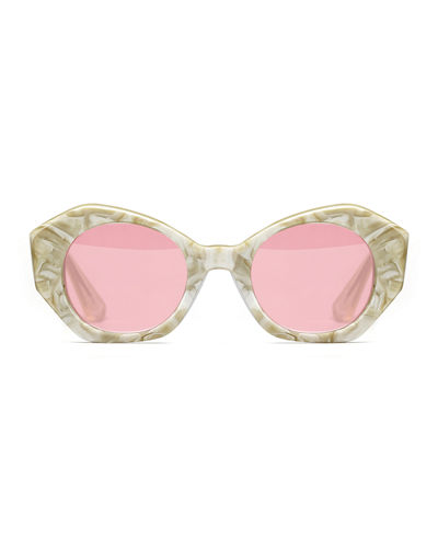 Huxley Geometric Acetate Sunglasses