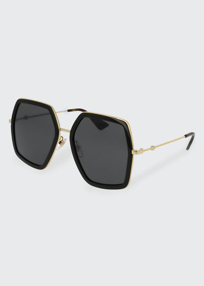 fb47e6d76 Gucci Oversized Square Web Sunglasses
