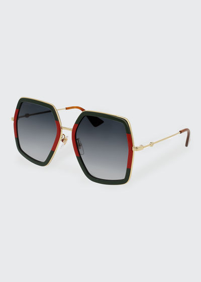 3c834992927 Made in Italy. Oversized Square Web Sunglasses Quick Look. Gucci