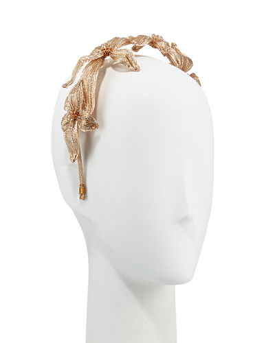 Mesh Crystal Botanical Headband
