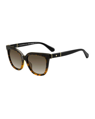 Kahli 53Mm Cat Eye Sunglasses - Black Havana
