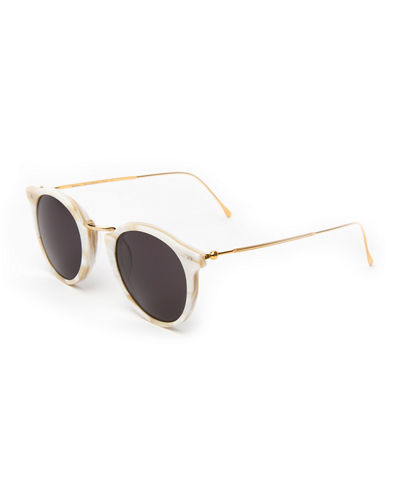 9a56edd2dab Round Acetate   Steel Monochromatic Sunglasses Quick Look. Illesteva