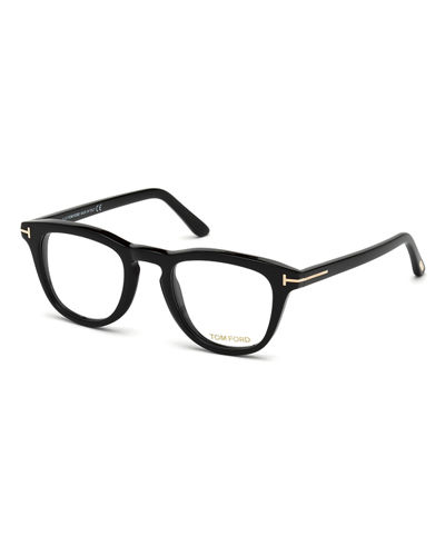 Semitransparent Acetate Square Sunglasses