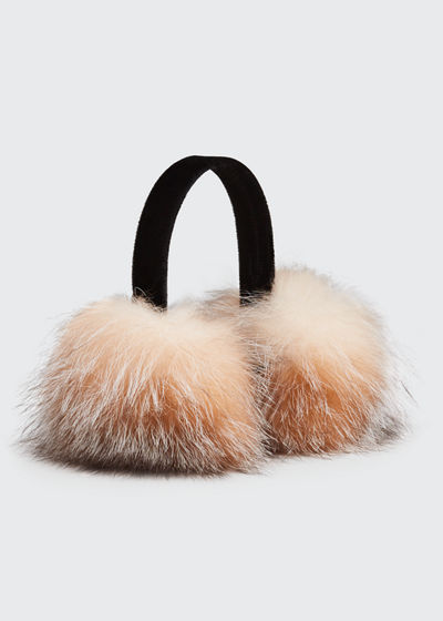 Velvet & Fox Fur Earmuffs