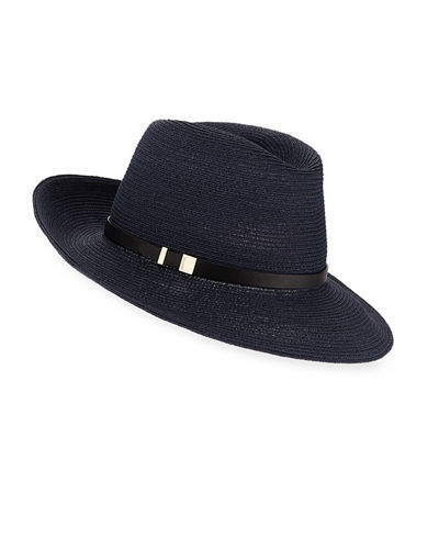 Florence Hemp-Blend Fedora w/ Leather Hat Band