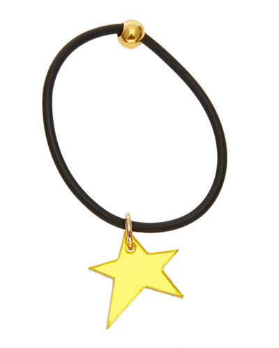 Reflective Moji Ponytail Holder