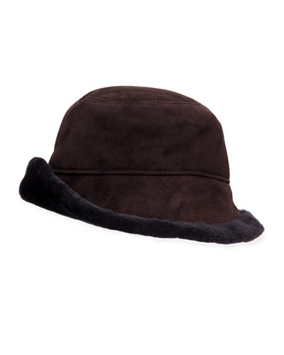 Shearling Cloche Hat