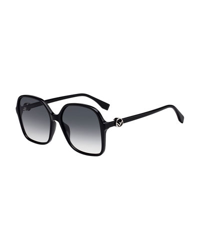 Fendi Gradient Square Propionate Sunglasses