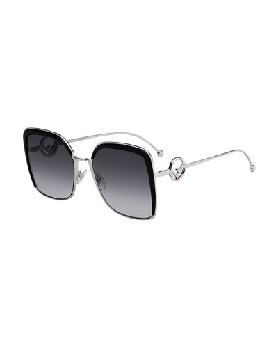 Metal Square Gradient Sunglasses