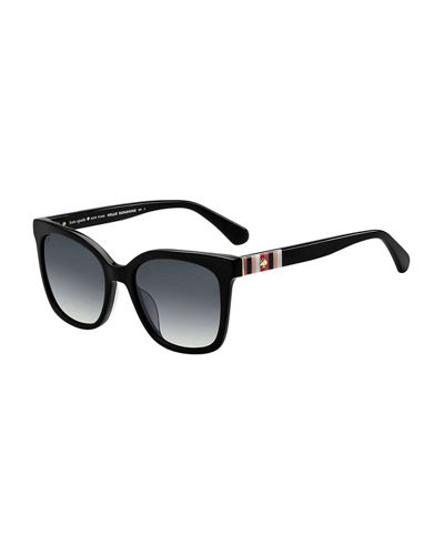 kiyas acetate rectangle sunglasses