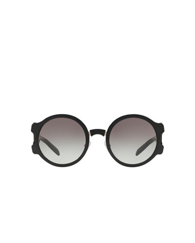 Round Mirrored Sunglasses with Cutout Temples