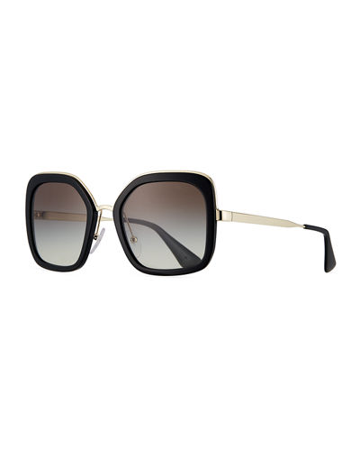 b7c82db0ef8d3 Rimmed Square Metal Sunglasses Quick Look. Prada