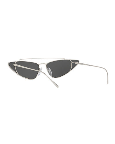 Metal Cat-Eye Sunglasses