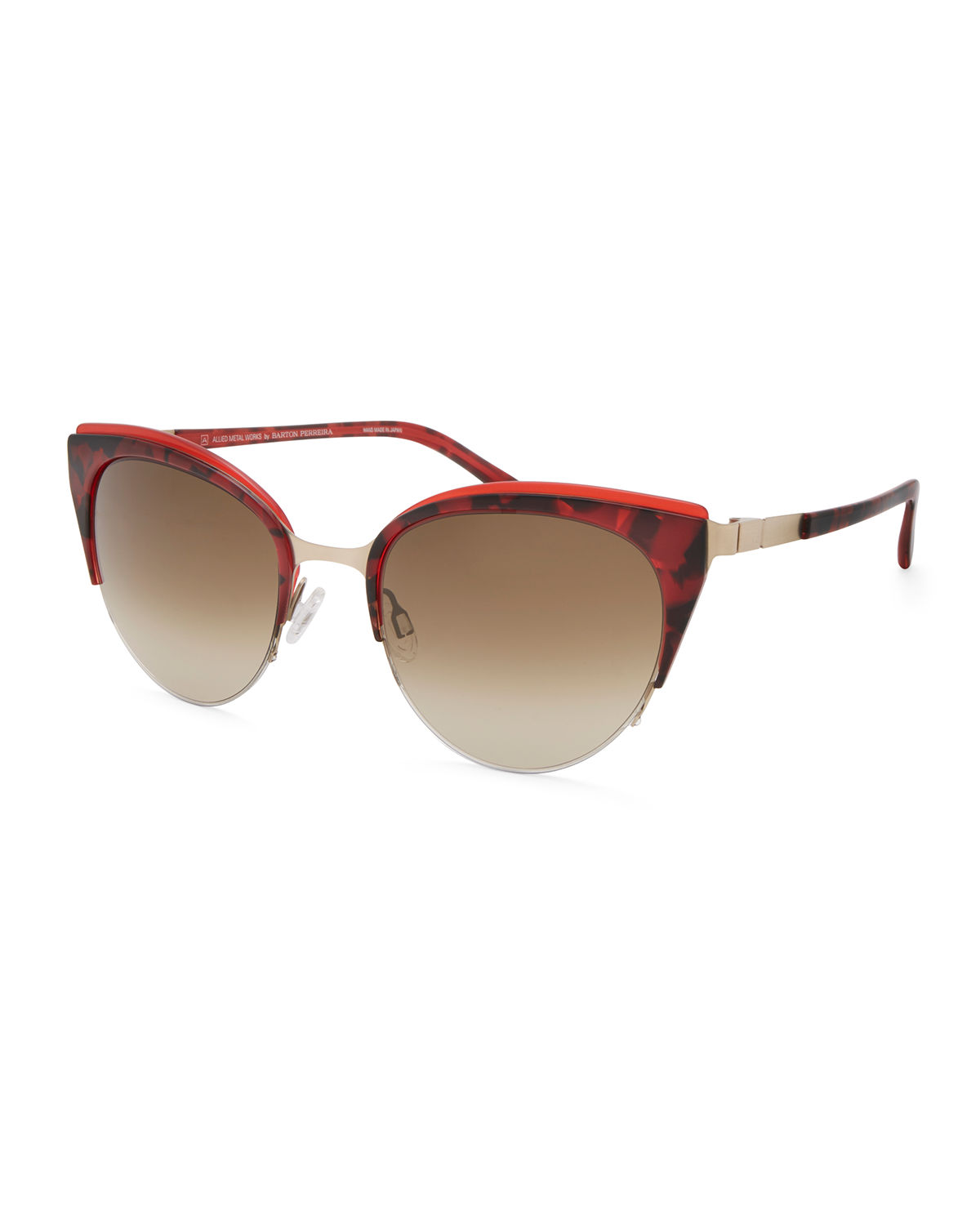 Barton Perreira TANAQUIL STAINLESS STEEL CAT-EYE SUNGLASSES