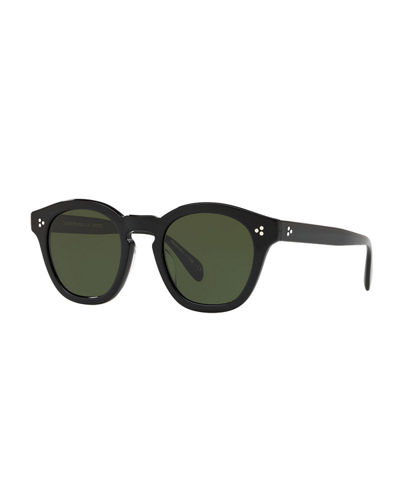 Boudreau L.A. Mirrored Round Acetate Sunglasses