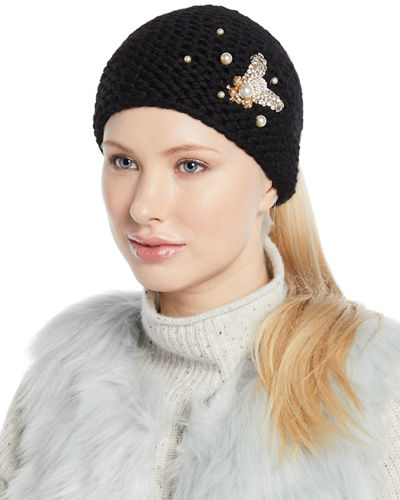 62df48194ad Embellished Bee Knit Head Wrap