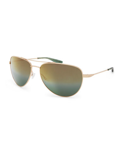 Five-Star Mirrored Aviator Sunglasses