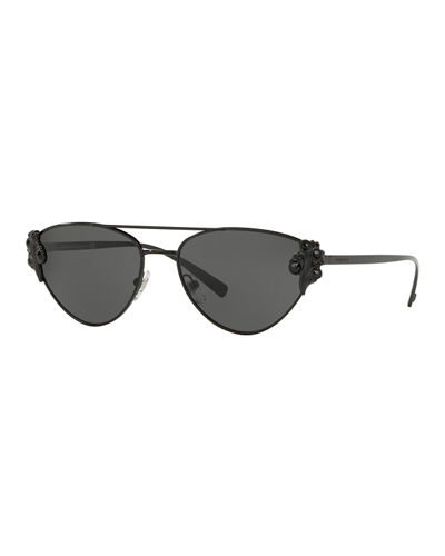 Cat-Eye Metal Barocco Sunglasses
