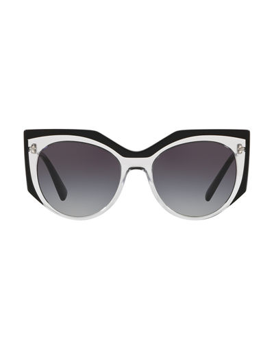 Transparent Acetate Gradient Sunglasses