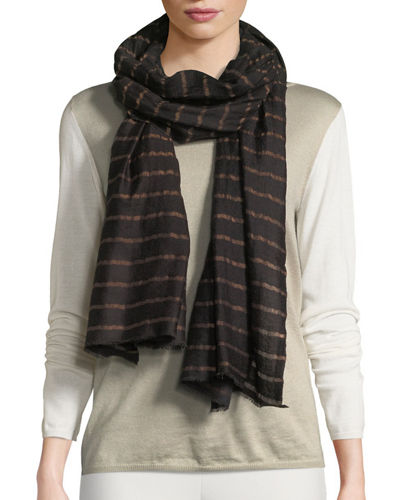 Shining Stripe Nights Wool Stole