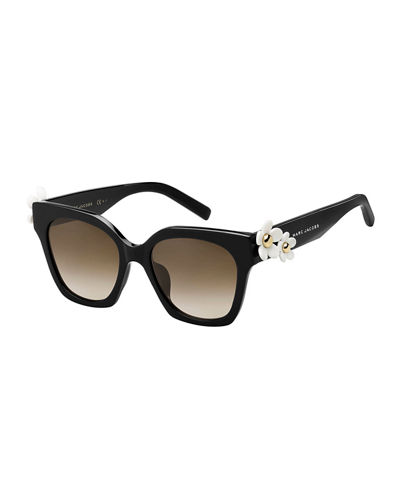 Square Acetate Daisy Sunglasses