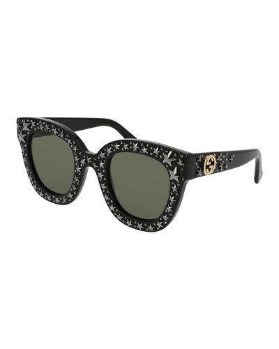 9dff2daf7 Gucci Square Swarovski® Star Sunglasses