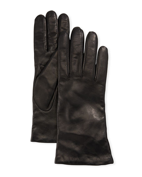 Portolano Gloves CASHMERE-LINED NAPA LEATHER GLOVES