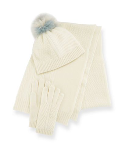 Cashmere Hat  Scarf & Gloves Set