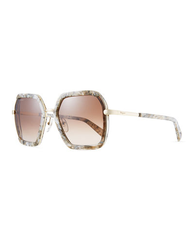 Combo Square Acetate & Metal Sunglasses