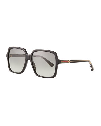 e1511e6840 Square Acetate Sunglasses with GG Temple