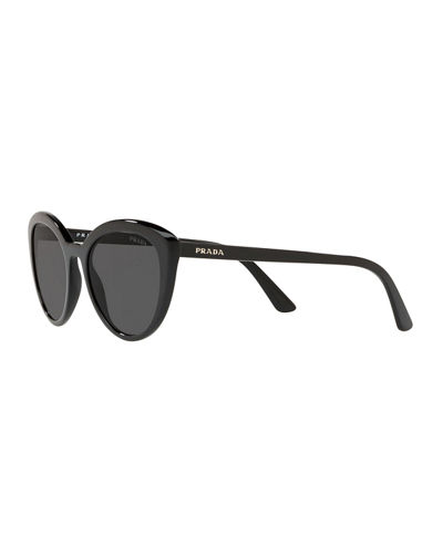 Semi-Transparent Acetate Cat-Eye Sunglasses