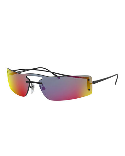 Rainbow Wrap Rectangle Sunglasses