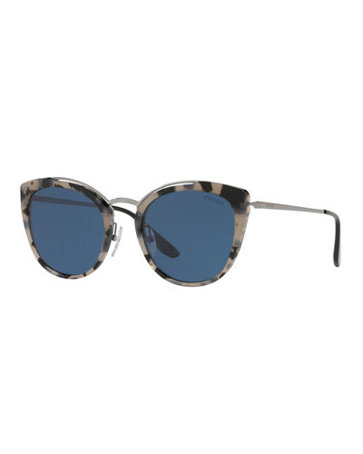 a68ff80cf76 Acetate   Metal Mirrored Cat-Eye Sunglasses Quick Look. Prada