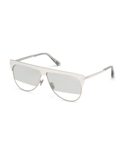 Winter Two-Tone Mirrored Aviator Sunglasses