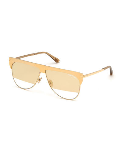 28712436450 Winter Two-Tone Mirrored Aviator Sunglasses