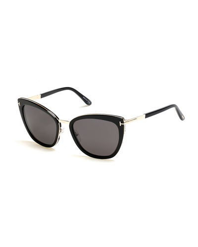 Simona Cat-Eye Metal & Acetate Sunglasses