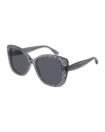 Diamond Pattern Square Sunglasses